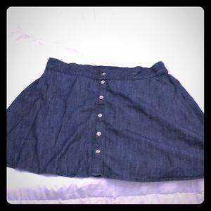 Adorable denim button front skirt